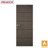 Internal CHARCOAL GREY Horizontal 4 Line Flush Fire Door FD30