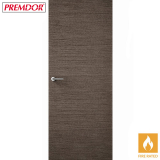 Internal CHARCOAL GREY Horizontal Grain Flush Fire Door FD30