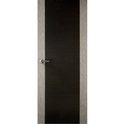 Premdor Internal LIGHT GREY & BLACK Two Stile Flush Door