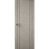 Premdor Internal LIGHT GREY Vertical Four Line Grooved Fire Door FD30