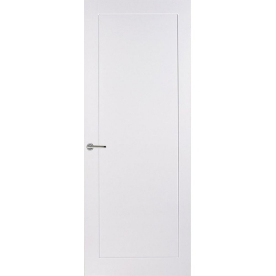 Premdor Internal White Primed 1 PANEL Moulded Smooth Flush Door