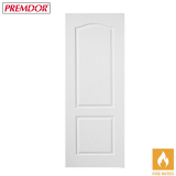 Internal White Primed 2 PANEL CLASSIQUE Moulded Textured Fire Door FD30