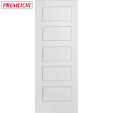 Internal White Primed 5 PANEL Moulded Smooth Door