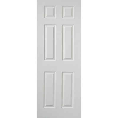Premdor Internal White Primed 6 PANEL Moulded Textured Fire Door FD30