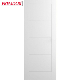 Internal White Primed LADDER Moulded Safe 'N' Sound Smooth Flush Door