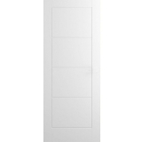 Premdor Internal White Primed LADDER Moulded Smooth Flush Fire Door FD30