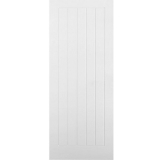 Premdor Internal White Primed VERTICAL 5 PANEL Moulded Textured Fire Door FD30