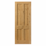 JB Kind Rustic Knotty Oak 4 Panelled Door