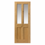 JB Kind Rustic Oak 4 Panel Clear Glazed Door