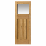 JB Kind Rustic Oak DX Glazed Panelled Door
