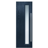 LPD External Blue Shardlow with White Frame Composite Glazed Door Set