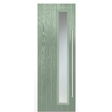 LPD External Chartwell Green Shardlow with White Frame Composite Glazed Door Set