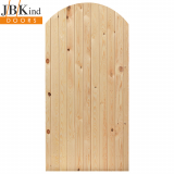 External Pine OXFORD Arched Top Boarded Panel Gate