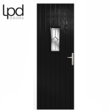 LPD External Black Speedwell with White Frame Composite Glazed Door Set