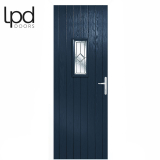 LPD External Blue Speedwell with White Frame Composite Glazed Door Set