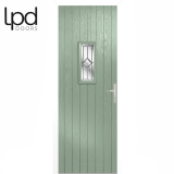 LPD External Chartwell Green Speedwell with White Frame Composite Glazed Door Set