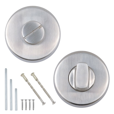 Excel Stainless Steel Bathroom Door Thumb Turn and Release Set