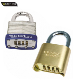 Laminated / Brass Combination 4 Dial Padlock