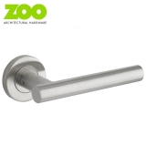 T BAR Grade 201 Stainless Steel Fire Rated Lever on Rose Door Handle Pair