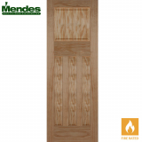 Mendes Pine Un-Finished 1930 Flat 4 Panelled Fire Door
