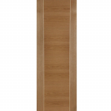 Mendes Mirage Internal Oak Pre-Finished Grooved Flush Fire Door