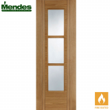 Mendes Capri Internal Oak Pre-Finished 3Light Glazed Fire Door