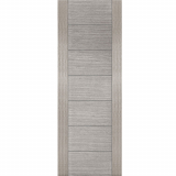 Mendes Light Grey Corsica Flush Grooved Door