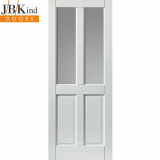 JB Kind External White Colonial 4 Panel Medite Tricoya Extreme Pre-finished Double Glazed Door