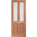 XL Joinery External Hardwood Malton Burns Single Glazed D&G Door