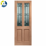External Hardwood Malton Drydon Clear Double Glazed M&T Door