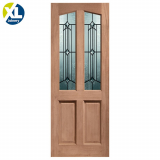 External Hardwood Richmond Donne Decorative Double Glazed M&T Door