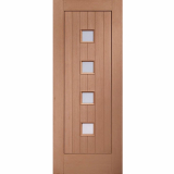 XL Joinery External Hardwood Siena Obscure Double Glazed M&T Door