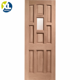 External Hardwood Stable 1 Light Clear Single Glazed D&G Door