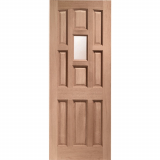 XL Joinery External Hardwood York Single Obscure Glazed D&G Door