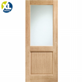 External Oak 2XG Clear Double Glazed Door