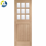 External Oak 9 Light Clear Glazed Stable Door