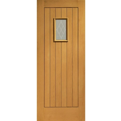 XL Joinery External Oak Chancery Pre-Finished Decorative Double Glazed Door