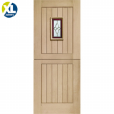 External Oak Chancery Triple Glazed Stable Door with Brass Caming