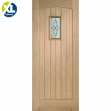 External Oak Cottage Triple Glazed M&T Door with Black Caming