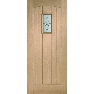 XL Joinery External Oak Cottage Triple Glazed M&T Door with Black Caming