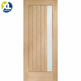 External Oak Trieste Obscured Double Glazed M&T Door