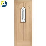 External Oak Westminster Decorative Triple Glazed M&T Door