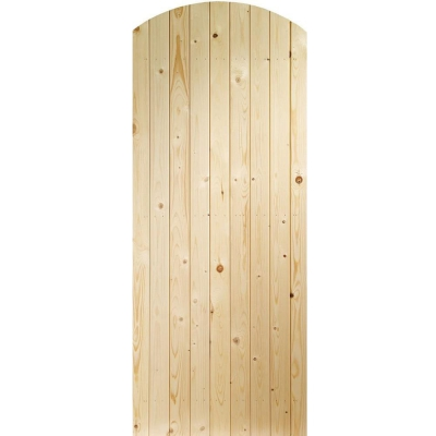 XL Joinery External Pine Arched Top Garden Gate & Shed Door