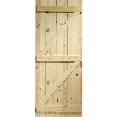 External Softwood Pine Boarded Ledged & Braced Door