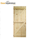 External Softwood Pine Boarded Ledged & Braced Shed Door