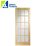 Internal Knotty Pine SA77 Flemish Glazed Door