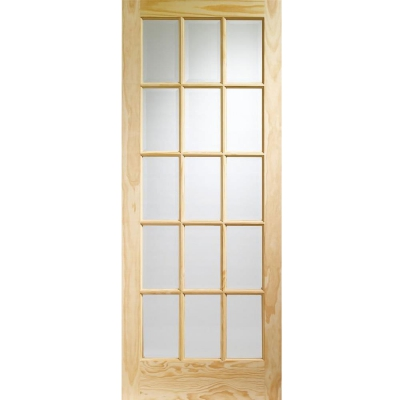 XL Joinery Internal Clear Pine SA77 Clear Glazed Door