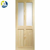 Internal Clear Pine Victorian 4 Panel Clear Glazed Door