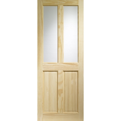 XL Joinery Internal Clear Pine Victorian 4 Panel Clear Glazed Door