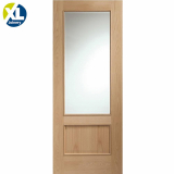 Internal Oak Andria 1L Clear Bevelled Glazed Door with Raised Mouldings